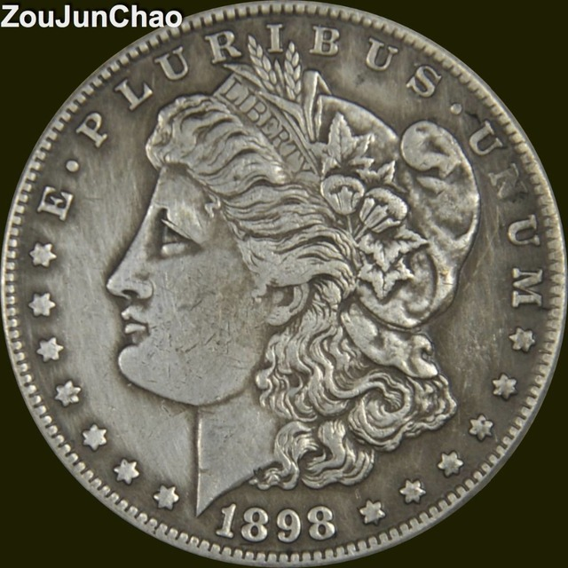 U S 1898 Morgan One Dollar Br Silver Plated High Quality Copy Coin Can Choose Any Year