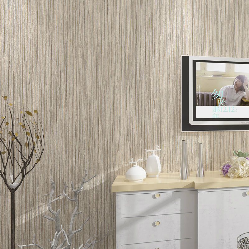 Gill Ribbed Plain Solid Color Wall Paper Vinyl Natural Faux Grasscloth  Wallpaper Bedroom Hotel Background Decor