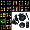 Thrisdar 16 Pattern Moving Snowflakes Christmas Outdoor Laser Projector Lamps Outdoor Garden Landscape Disco DJ Stage