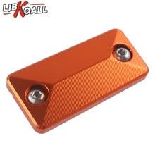 LJBKOALL Orange Front Brake Fluid Reservoir Cover Cap For KTM 1090 1190 1290 Duke R/Adventure/S Motorcycle Accessories Aluminum