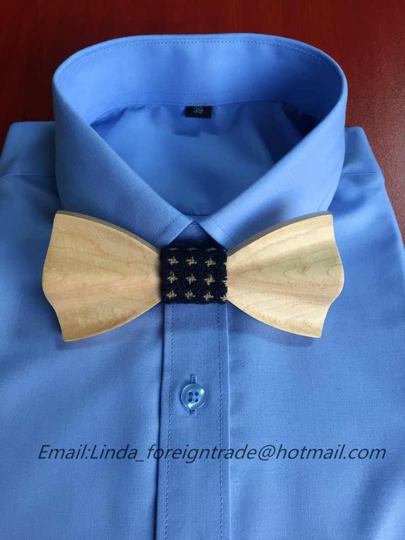 Christmas gift New Fashion Personality Dot Bow Tie Wooden wedding tie sets Neck Tie For Men Jewelry