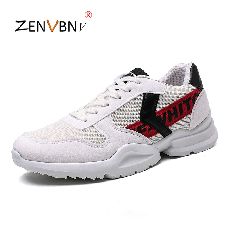 ZENVBNV Mens Sneakers Casual Shoes Mesh Breathable Male Schuhe Spring Fashion Lace Up Rubber Sole Chaussure Homme Trainers