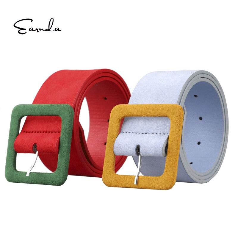 Earnda Casual Buckle Wide Belts for