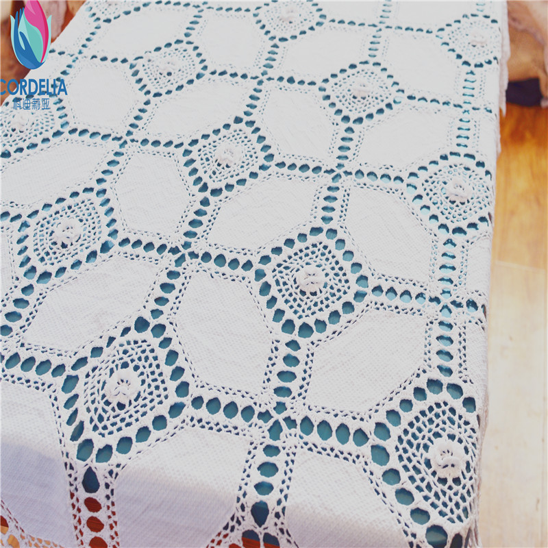 49x68inch High Quality Fabric Made Crochet White Lace Tablecloth As Dinning  Table Decoration Patchwork Vintage Table Cover