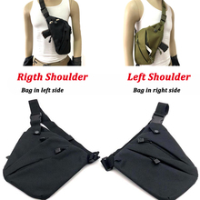 Left / Right Concealed Hunting Tactical Gun Holster Nylon Pouch Anti-theft Shoulder Chest Bag Mens Sport 5 Colors