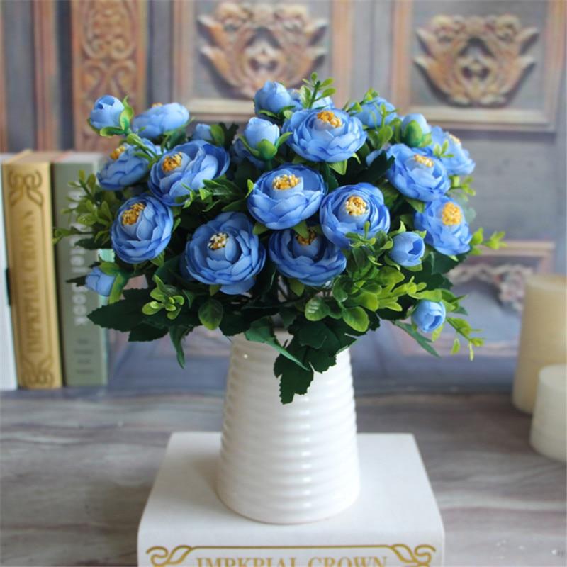 Well known blue hydrangea flower arrangements nj37 fabulous 2016 new multi color spring artificial fake peony flower sq13 mightylinksfo