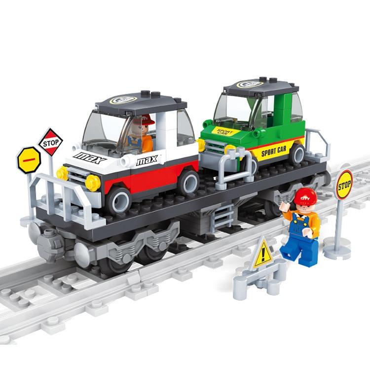 ausini building blocks set compatible with lego city train 400 3d brick educational model building toys hobbies for children
