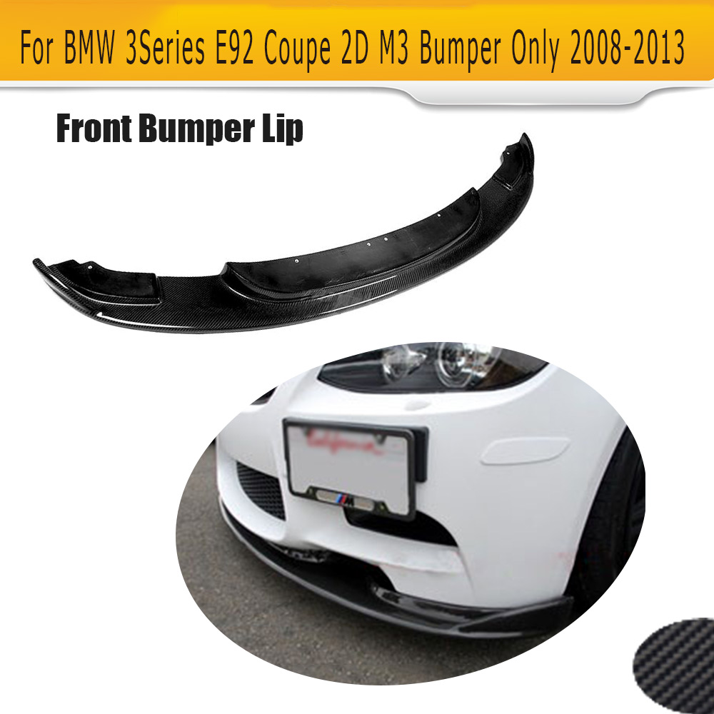 Carbon Fiber Front Bumper Lip Spoiler For BMW 3 Series E92