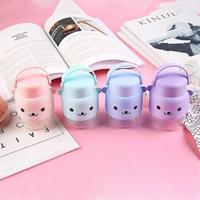 300ML Mini Cute Bear Creative Cartoon Glass Water Portable Bottle Silicone Sport Travel Glass Cup Silicone