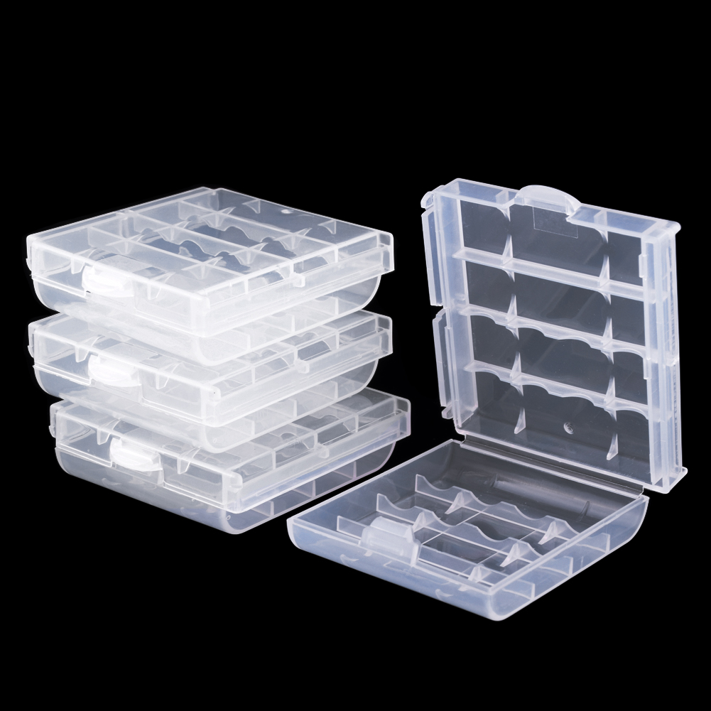 AA /& AAA and 18650 Rechargeable Batteries Plastic Storage Box Container Holder Battery Case Keep Your Batteries Organizing 1, AA Battery Clear Box 50