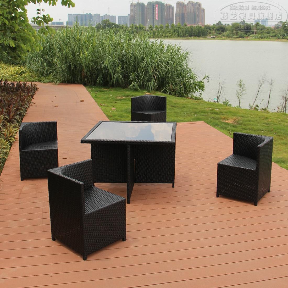 Outdoor Patio Furniture Furniture Coffee Cafe Casual Wicker Chair Outdoor  Balcony Garden Bar Counters