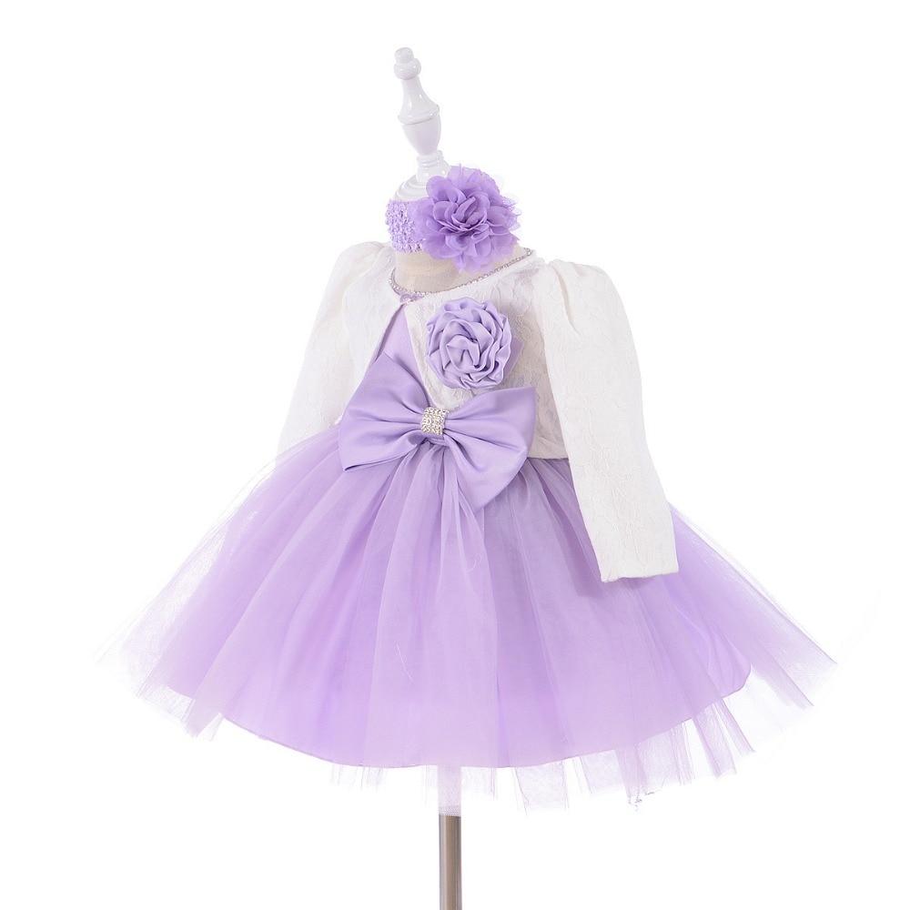 0-1 jaar verjaardag peuter meisje doop jurk bruiloft kostuums - Babykleding - Foto 3