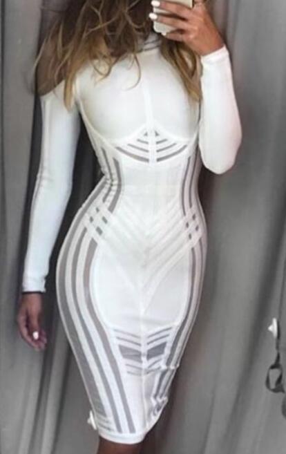 Aufrichtig Hohe Qualität 2019 Neue Winter Frauen Kleid Weiß Verband Kalten Schulter Kleid Großhandel Hl Party Kleid Kleid + Anzug