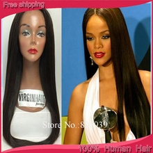 20inch silky straight silk top full lace wig rihanna/beyonce lace front wigs Brazilian remy best human hair wigs for black women
