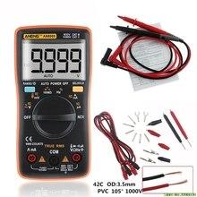 AN8009 de verdadero valor eficaz (RMS rango automático Digital multímetro NCV ohmímetro AC/tensión DC amperímetro medidor de medición de temperatura