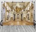 Светло-золотой Арка Дворцовая дверь виниловый тканевый фон с высокой компьютерной печатью окрашенный настенный фон