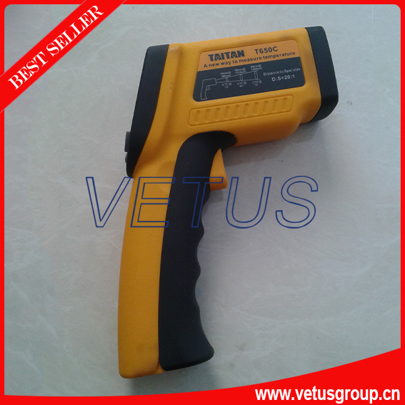 low price infrared thermometer with range -50~650C LCD backligh display infrared thermometer price with respond time least 150ms