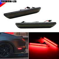 2 Smoked Lens LED Rear Side Marker Lamps With 45 SMD Red LED Lights For