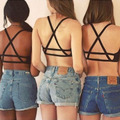 1PC Sexy Women Padded Bra Tank Tops Caged Bra Vest Crop Top Summer Blouse