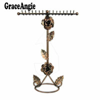 2016 Art Design Jewelry Holder Earring Quality Vintage Earrings Necklace Jewelry Display Showcase Racks Holder Stand