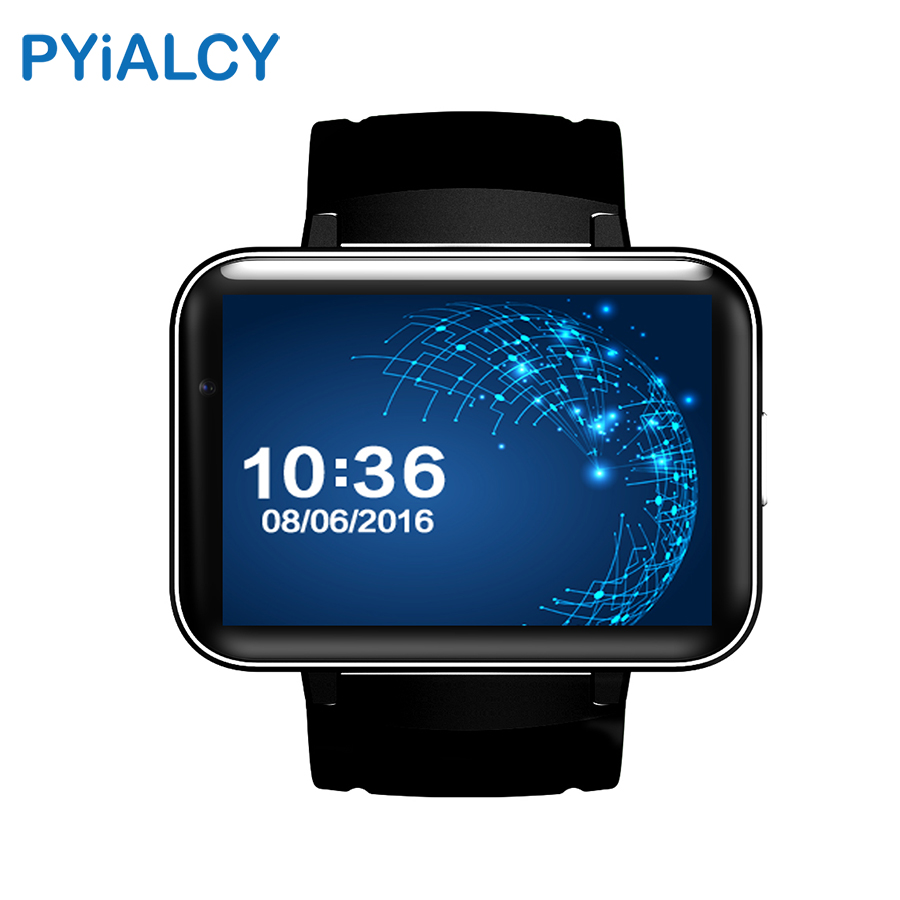 PYiALCY DM98 Smart Watch Android 4.4 OS MTK6572 Dual Core 4GB ROM Smartwatch Bluetooth 4.0 3G WIFI GPS Support SIM Card Camera