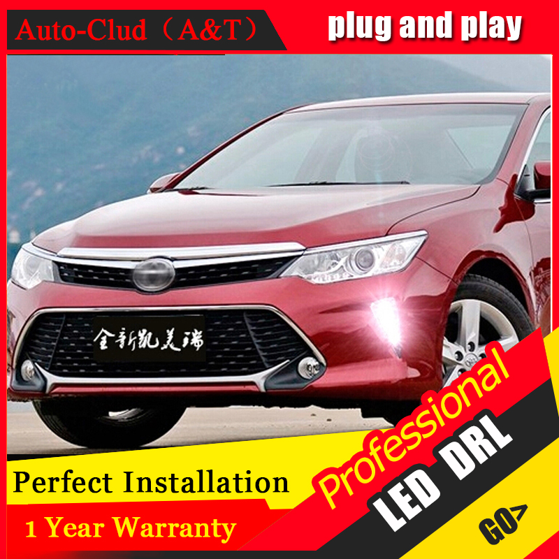 AUTO PRO 2015 For Toyota Camry LED Daytime Running Light Car Styling For toyota Camry LED DRL LED fog lights LED driving lights tcart 2x auto led light daytime running lights turn signals for toyota prius highlander for prado camry corolla t20 wy21w 7440