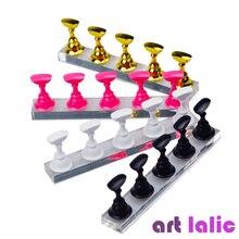 5 uds Nail Art Display Stand tablero de ajedrez puntas magnéticas blanco negro práctica titular Set esmalte Gel Color herramienta de gráficos