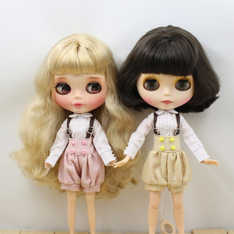 Neo Blythe Doll Suspender Suit with Puffed Shorts 4