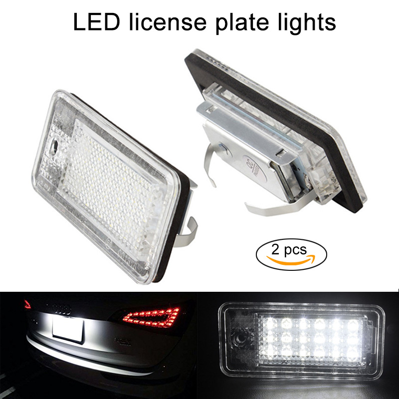 New 2 Pcs LED Number License Plate Lamp Light for Audi A3 A4 A6 S6 A8 Q7 RS4 RS DXY88 smaart v 7 new license