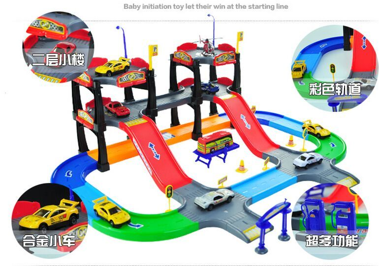 In Stock Miniature Parking Toy Tomica Parking Lots Track Railroad kid Toy For Boys Novelty Birthday Gift Speelgoed Kids Toys