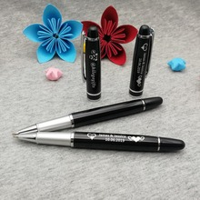 BOSS wanted classic pen with cute cap customized free my logo/email/phoneon body/cap one side engraved by laser