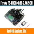 Fs de flysky fs-th9x-b-fs fs-th9x 2.4g 9ch th9x sistema de radio (FS-R9B FS-TH9X TX + RX FS-R8B) RC 9CH Transmisor + Receptor