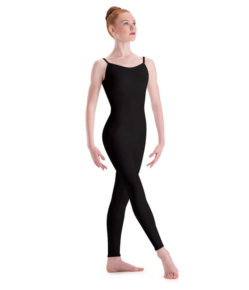 642ecc7d0e Plus Size Adult Basic Black Camisole Unitard Spandex Full Body One Piece  Jumpsuit Lycra Ballet Dance