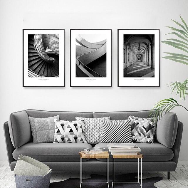 Us 4 21 51 Off Nordic Minimalis Ruang Tamu Sofa Latar Belakang Dinding Dekorasi Lukisan Triple Line Urban Lukisan Teras Lorong Restoran Melukis Di