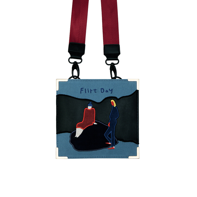 YIZISTORE vintage canvas embroidery retro messenger bags for women in One Day series 2017[FUN KIK]