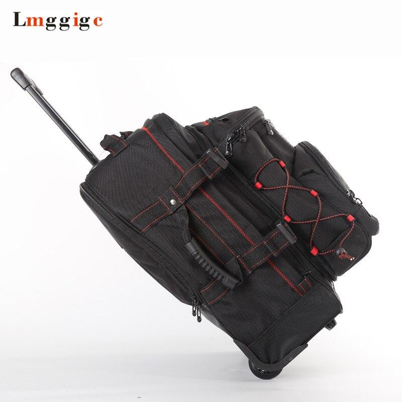Альпинистский рюкзак на колесиках, водонепроницаемая багажная сумка через плечо, дорожный костюм Чехол, многофункциональная полевая тележка