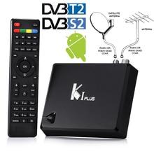 HOT Android 5.1 + DVB-T2 Terrestrial + DVB-S2 HD AC3 Satellite IPTV Combo Convertor Receiver Decoder Wifi H.265 KODI 4K TV Box