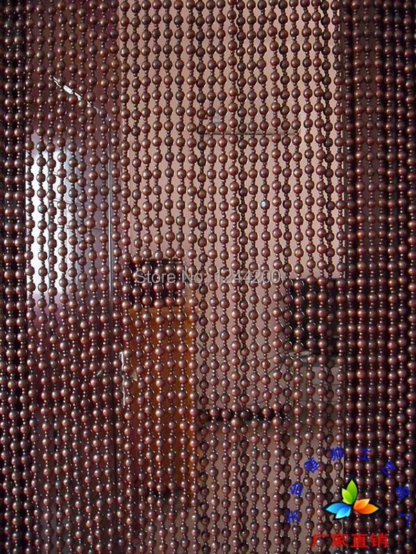 Faraway Custom Highgrade Hanging Bead Door Curtain Wooden Bead Door Screen  Feng