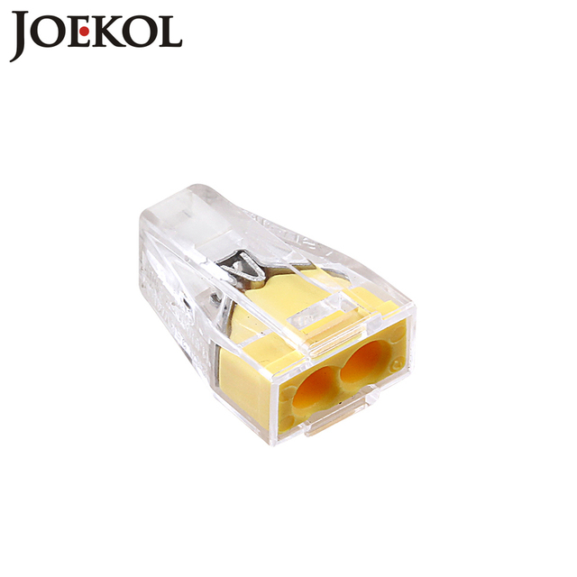 (100pcs/lot) PCT-102(WAGO 773-102) Push wire connector 2 pin conductor terminal block cable connector