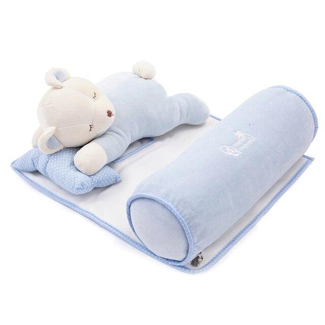 Newborn infant pillow multifunctional neck protect baby bedding set sleeping pillow cartoon baby toys