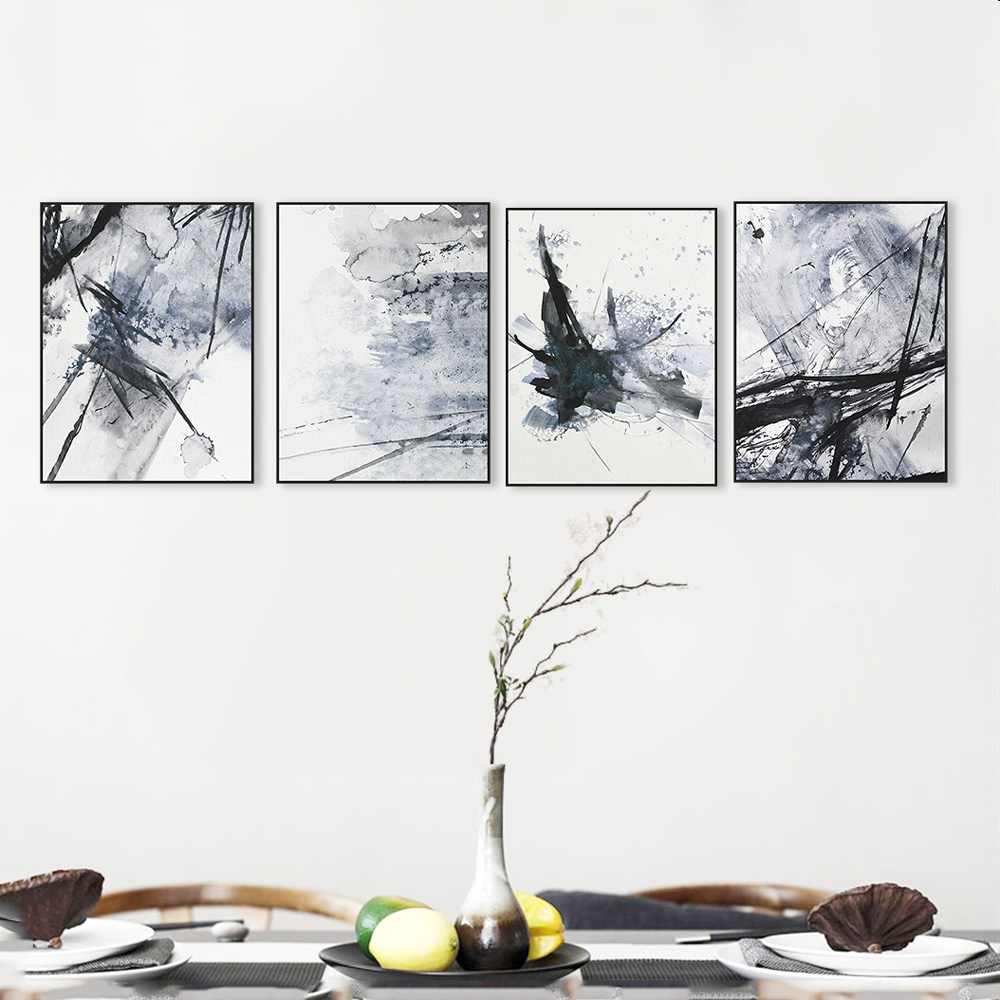 Modern-Abstract-Chinese-Ink-Splash-Canvas-A4-Art-Poster-Print-Wall-Picture-Painting-No-Frame-Vintage (2)