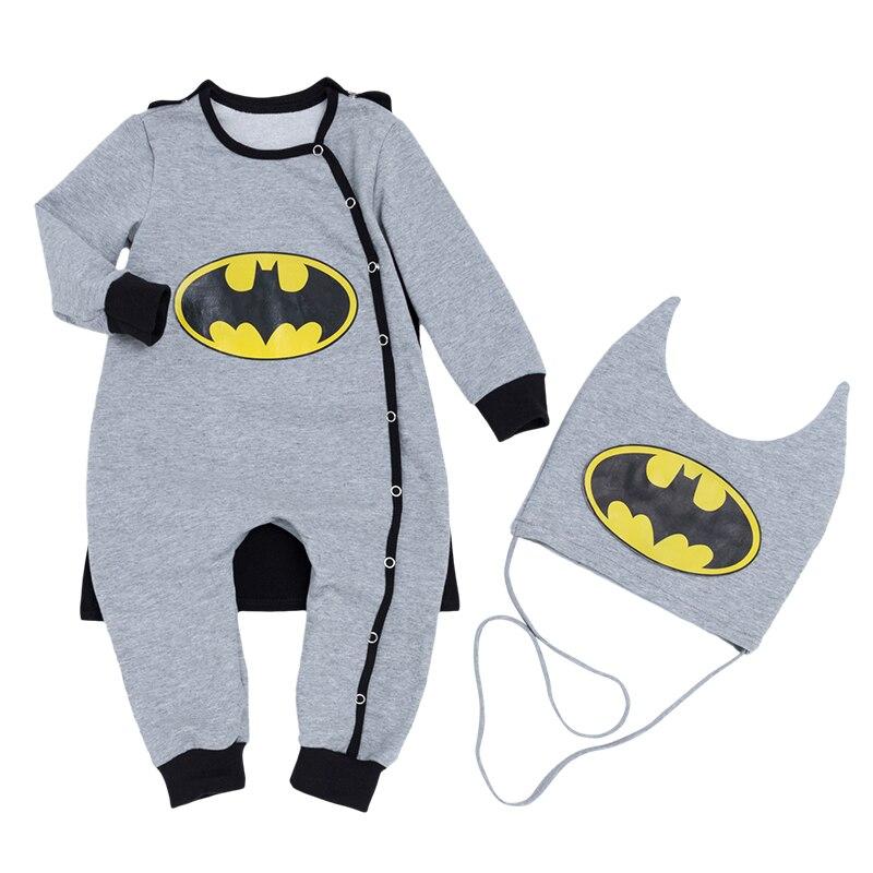 Masquerade Jumpsuit Batman Baby   Rompers   Cosplay Clothes New Warm Bebek Tulum Kids Costume Children Novelty Boys Clothes 3Pcs/set