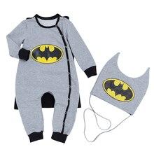 Mono de Mascarada Batman bebé peleles ropa Cosplay nuevo cálido bebebek Tulum niños traje novedad niños ropa 3 unids/set