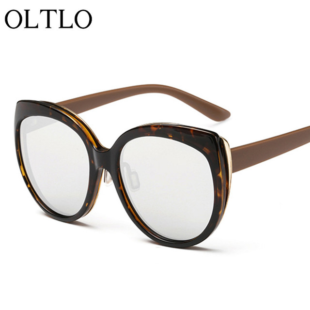 OLTLO New Cat Eyes Women Sunglasses Unisex Light Color Sun Eyewear Female UV400 Protection Vintage Glasses Shades Woman Outdoors
