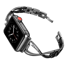 купить link bracelet strap for apple watch band 4/3/2/1 44mm 40mm 42mm 38mm iwatch stainless steel watchband replacement metal belt дешево
