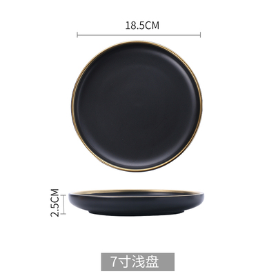 7 inch black plate