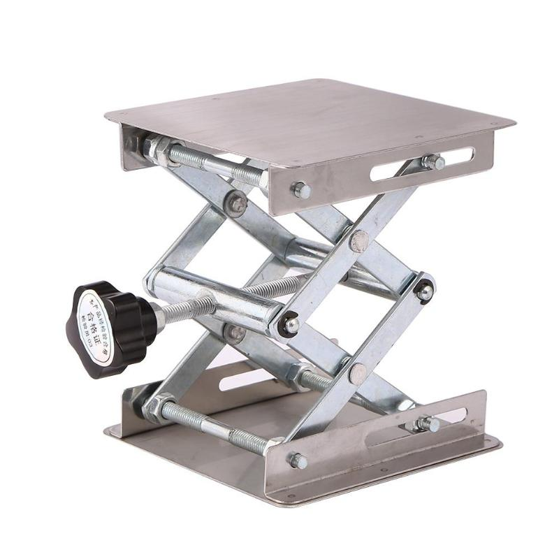 Aluminum Router Lift Table Woodworking Engraving Lab Lifting Stand Rack  (Silver) Carpenter's Workbench Carpinteria 135*100*45mm