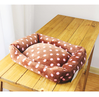 Pink Dot Warm Winter Dog Beds Pet Mats Products For Dogs Pet Maltese Small Dog Cat