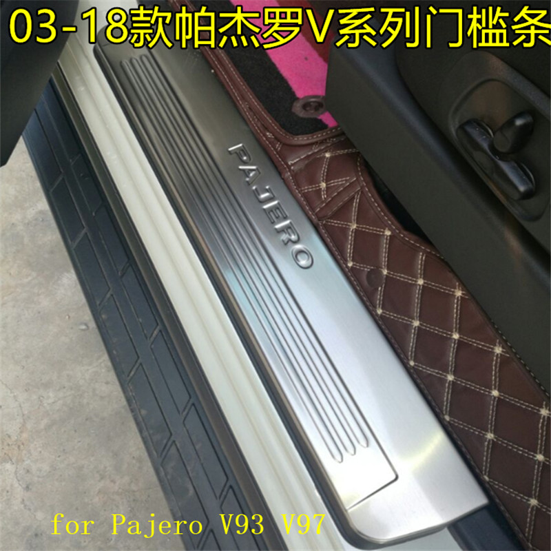 304 Stainless Steel LED Scuff Plate/Door Sill Door Sill pedal bienvenidos for Mitsubishi Pajero V93 V97 2003-2018 Car styling304 Stainless Steel LED Scuff Plate/Door Sill Door Sill pedal bienvenidos for Mitsubishi Pajero V93 V97 2003-2018 Car styling