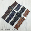 26 мм Для Garmin Fenix 3 Натуральная Кожа Ремешок Для Часов Нубука кожаный Ремешок Для Fenix 3 Смотреть band